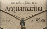 Collana oro bianco Acqua Marina