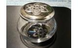 Vasetto in cristallo e argento