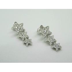 Orecchini MyMara con 3 stelle in argento e Zirconi