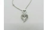 Collana MyMara in argento, ciondolo cuore e zirconi