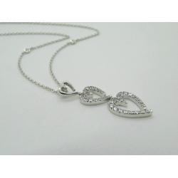 Collana MyMara in argento, ciondolo cuori e zirconi