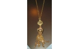 Collana con pendente in bronzo gold