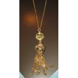 Collana con pendente in bronzo gold