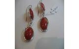 Orecchini pendenti corallo rosso