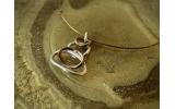 Girocollo in argento brunito Pebbles