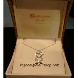 Ciondolo oro bianco diamanti